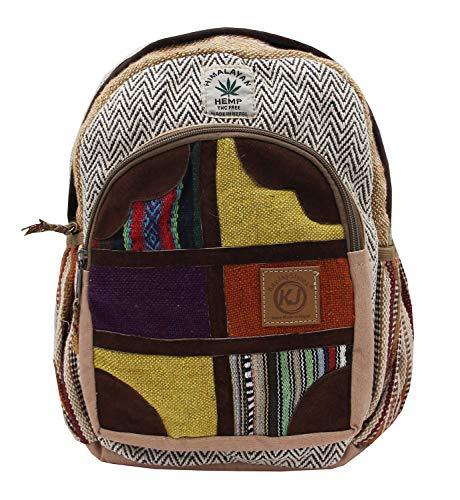9ff966a27aa5 KayJayStyles Handmade Natural Hemp Nepal Backpack Purse for Women   Girls  Small Lightweight Daypack (DAYPACK4