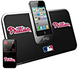 iHip Official MLB - PHILADELPHIA PHILLIES - Portable iDock Stereo Speaker with Wireless Remote MLV5000PHL