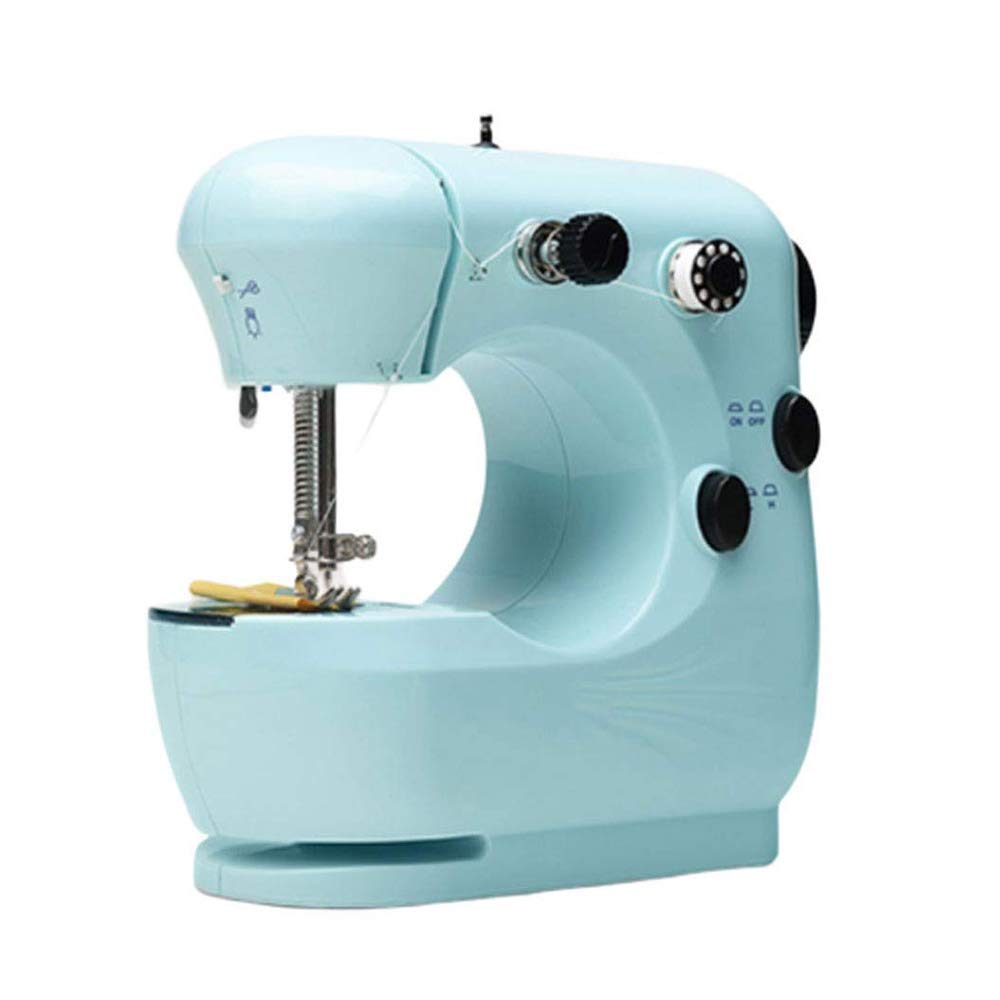 ZYG.GG Home Sewing Machines Portable Sewing Machines Electric Mini Two-Wire Two-Speed Pedaling Sewing Machine for Home Speed Adjustment Arts Crafts Sewing Machines,1 by ZYG.GG