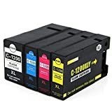 4 Pack Compatible Canon PGI-1200XL Ink Cartridge for Use with MAXIFY 2320 MB2020 Printer
