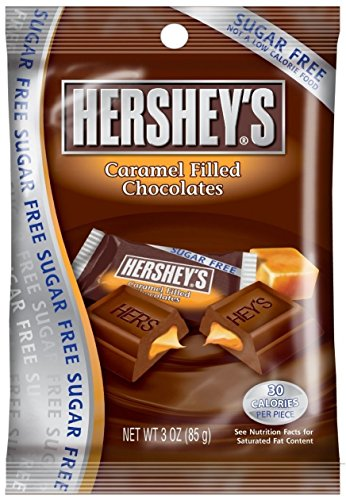 Hershey's Sugar Free Chocolate with Caramel Candy, 3-Ounce Bag (1 Pack)