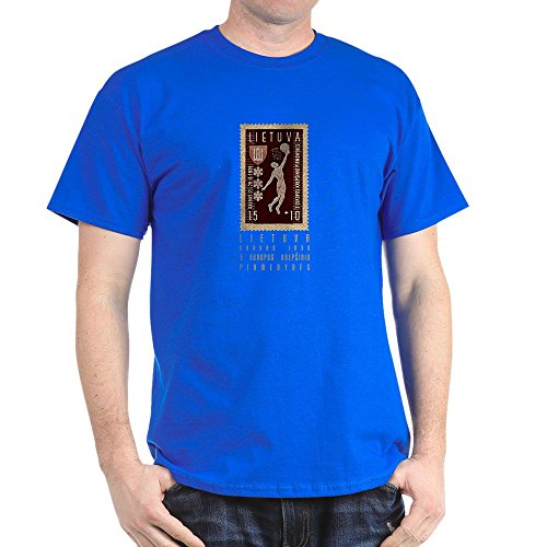 fan products of CafePress Lithuania Basketball Stamp - 100% Cotton T-Shirt