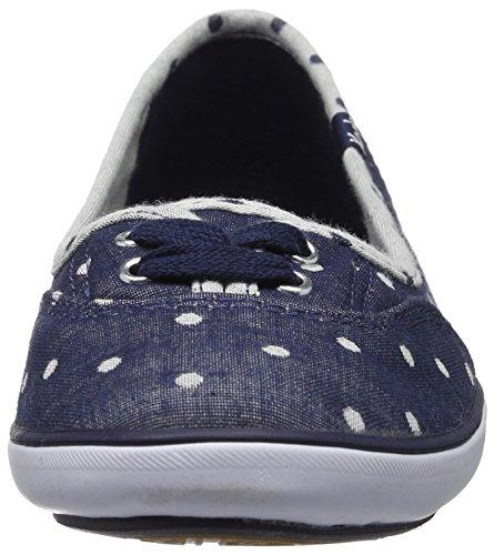 Keds Kvinna Dubbeldäckare Chambray Dot Mode Sneaker Navy