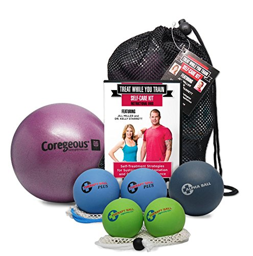 Tune Up Fitness Treat While You Train Kit with Jill Miller and Kelly Starrett, 2 DVD Set and Full Roll Model Self Massage Therapy Ball Set, Improve Mobility, Myofascial Release, Trigger Point Therapy by Tune Up Fitness (Image #1)