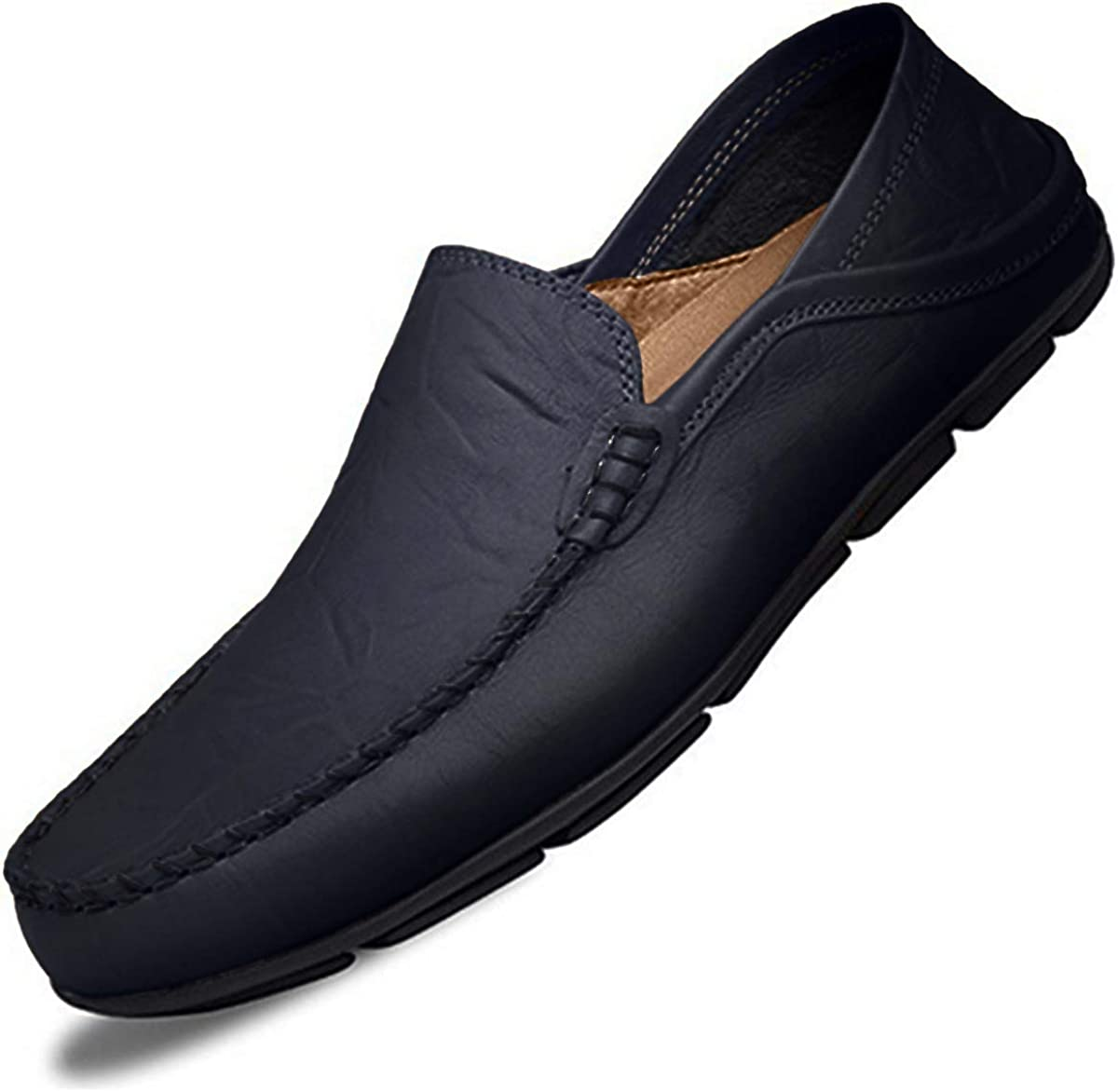 Men/'s Driving Shoes Genuine Leather Light Casual Slipper Leather Dress Shoes US