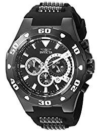 Invicta Men's 'Pro Diver' Quartz Stainless Steel and Polyurethane Casual Watch, Color Black (Model: 24684)