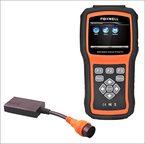 FOXWELL OBD2 Diagnostic Tool Scanner NT520 PRO for Mercedes vehicles incl. Multiplexer 38 PIN connector/adapter