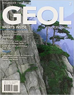 Book Print Option: GEOL (with Earth Science CourseMate with eBook Printed Access Card), 2nd + Global Geoscience Watch Printed Access Card by Reed Wicander (2012-01-01)