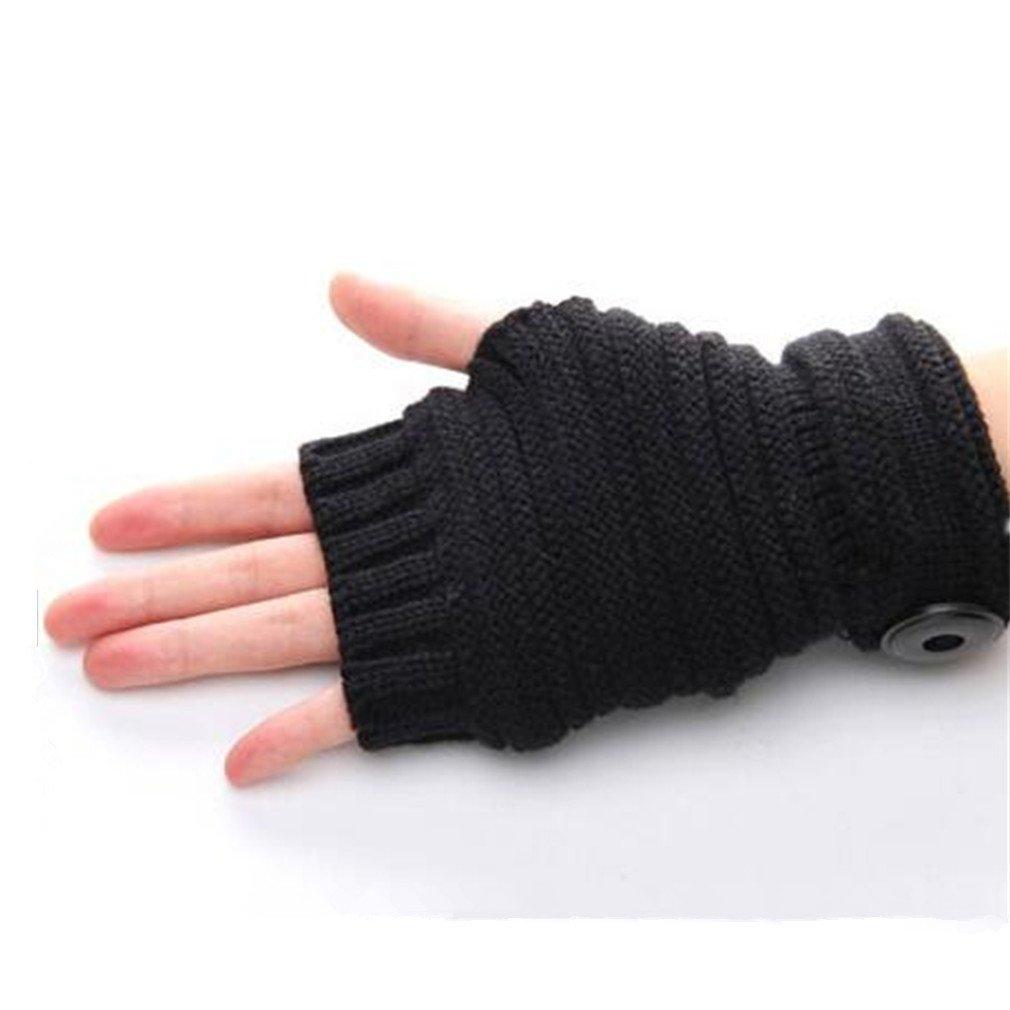 Fingerless gloves at target - Amazon Com Viskey 1 Pair Men Women Knitting Mitten Unisex Winter Warm Hand Half Finger Gloves Black Home Kitchen