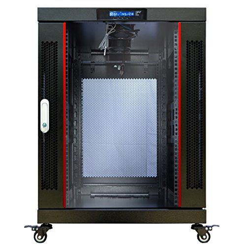 18U Server Rack Cabinet Enclosure Premium Series Sysracks 24
