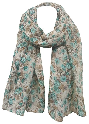 Unity Mint - In Style Floral Design Treand Ladies Scarf/Scarf/Wrap Spring/Summer 2017 (Unity - Beige/Mint)
