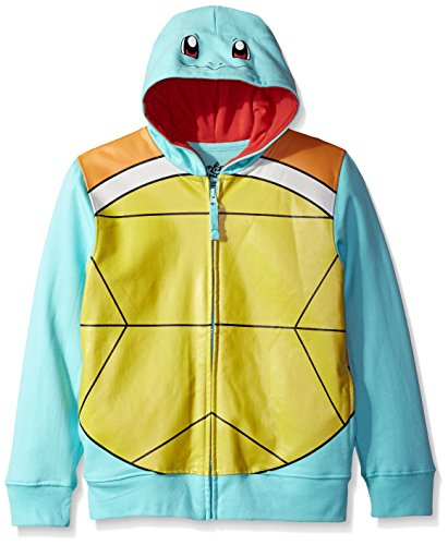 Squirtle Costume Kid (Pokemon Big Boys Squirtle Costume Hoodie, Blue, M-10/12)