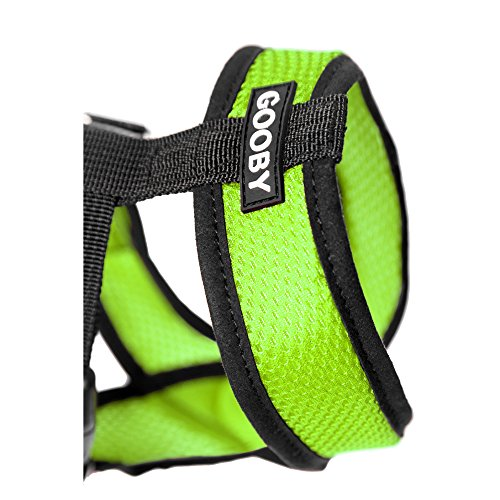 Image of Gooby Choke Free X Frame Soft Harness with Micro Suede Trimming for Small Dogs, Medium, Green