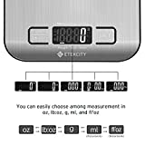 Etekcity Food Scale, Digital Kitchen Grams and