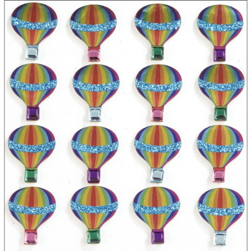 Jolee's Boutique Repeats Dimensional Stickers, Hot Air Balloon (Balloons Stickers Scrapbooking)
