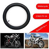 "FLYPIG 2.5-14 Inner Tube 14"" Tire Innertube for PIT Dirt Bike 50CC 70CC 90CC 110CC 125CC,Suzuki RM 50 60 65 RM50 RM 60 RM65 DS JR 80 DS80 JR80 Inner Tube"