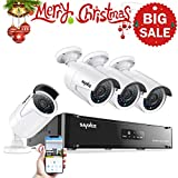 SANNCE 1080P 4CH POE NVR Security Camera System with 4*1080P 2MP CCTV Surveillance