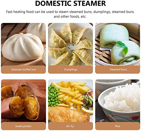 51BihlQh02L. AC FRCOLOR Stainless Steel Steamer Small Food Steamer Basket with Handles Steaming Rack for Rice Vegetables Meat Fish Dumplings Dim Sum     Description The product is a steamer grill with a handle design, made of high- quality stainless steel, durable, environmentally friendly and safe to use. It can be used to steam buns and so on. It is convenient, practical and necessary for families.