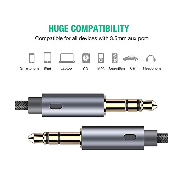 AUX Cable Oldboytech 2 Pack4ftHi Fi Sound Quality 35mm Auxiliary Audio Cable Nylon Braided AUX Cord For Car Home StereosSpeakeriPhone IPod IPadHeadphonesSony BeatsEcho Dot More