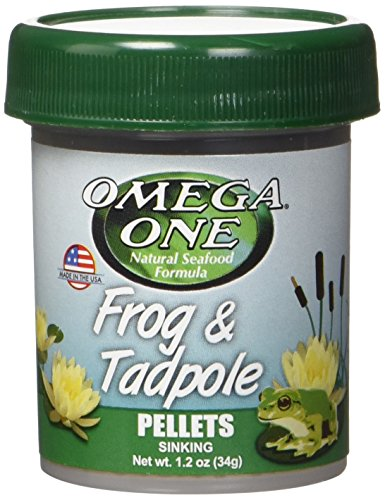 - OMEGA 63131 1 One Frog & Tadpole Pellet 1.2oz, Yellow