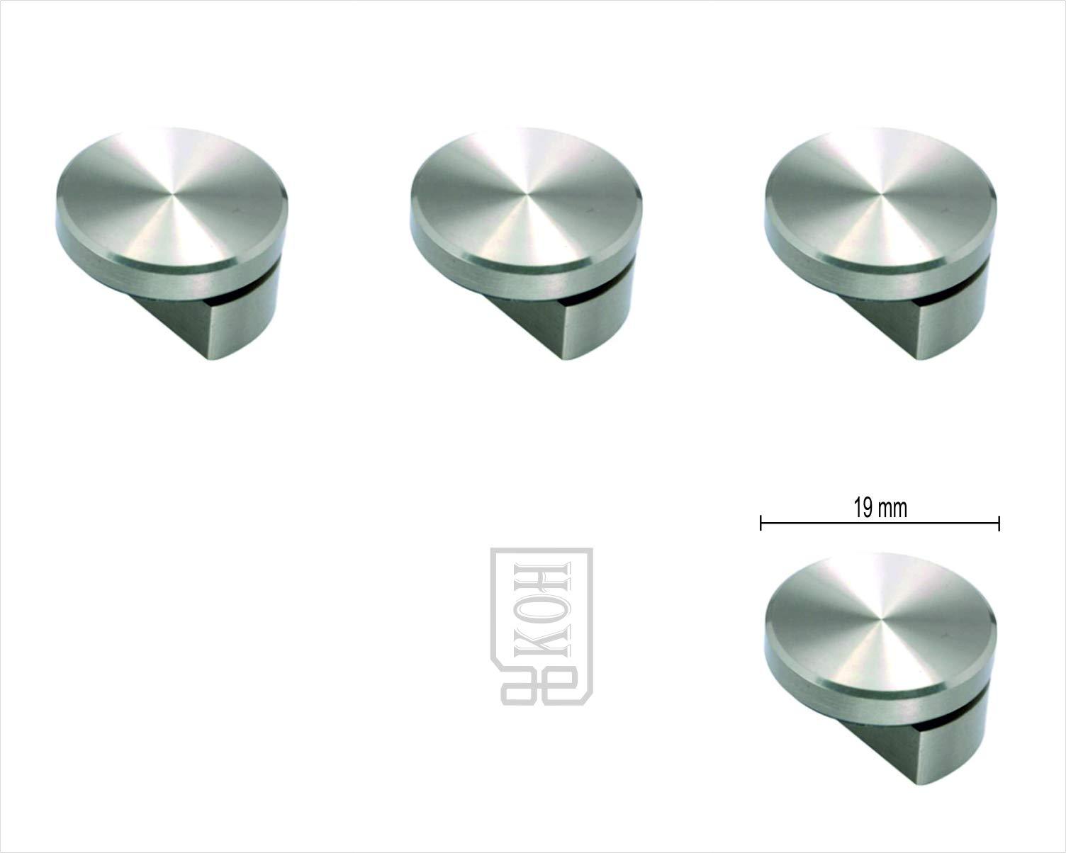AEKOH 4 X Mirror Holder Bracket Half for 6 mm Glass/Mirrors (19 mm) (B07J1MSFMJ) Amazon Price History, Amazon Price Tracker