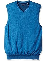 IZOD Men's Fine Gauge Solid Sweater Vest