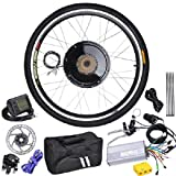 Professional Rear Wheel LCD Display Time Power Speed Electric Bicycle Motor Kit 48V 1KW 470RPM w/ PAS System & 140 mm Disc Brake for Outdoor Sporting Conversion Bike Cycling
