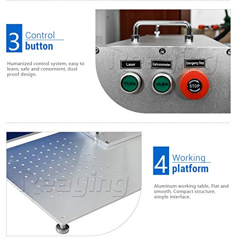Reaying 30W Mini Portable Fiber Laser Metal Marking Engraving Machine with Laptop Free Rotary Device