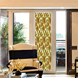 YOLIYANA Environmental Protection Window Film Sunflower Decor for Home Office School Funky Style Sunflower in Pastel Colors Old Fashioned 24 x78