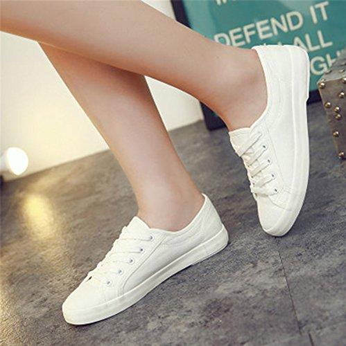 amp;G Pizarra 35 Zapatos De Primavera Señoras NGRDX Blanco Para Antideslizante Deporte De Lona 44 Casual Las Caminar Mujeres Las De De Mujeres White De Las Tamaño Zapatillas dSxOwC