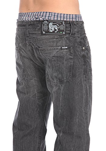 Mazine Asesino Claim Male Herren Loose Fit Jeans Schwarz