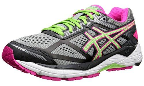 Women Control Shoes Motion Running (ASICS Women's Gel-foundation 12 Running Shoe, Silver/Pistachio/Pink Glow, 6 M US)