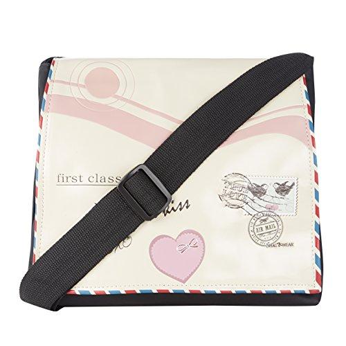 de bolsa de teclado black mano letter melodía Shagwear de de melody amor beige negro carta love Bolso bandolera beis keyboard 5qBwx80t