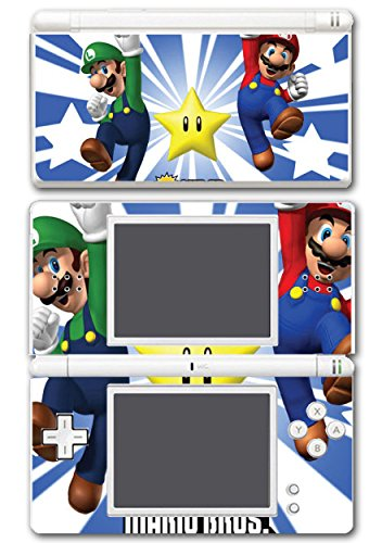 New Lite Super Bros Mario Ds Nintendo (New Super Mario Bros Luigi Star Power Video Game Vinyl Decal Skin Sticker Cover for Nintendo DS Lite System Console)