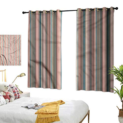"Davishouse Thermal Insulated Drapes for Kitchen/Bedroom Barcode Style Stripes Darkening and Thermal Insulating 63"" Wx45 L"