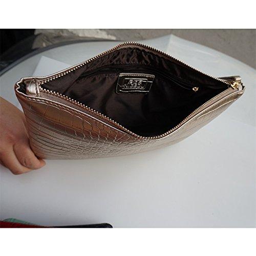Envelope Leather Women PU Crocodile Bag NIGEDU Clutch Clutches Grain Red qYafqwX