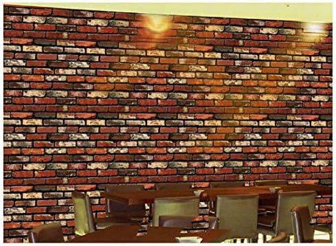 Nanmara 重厚感のある レンガ調 壁紙 シール はがせる 3D 壁紙シール リアルで立体的な レンガ DIY 45cm×10m (No.1002)