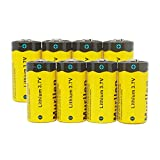 8x Murllen CR123A Rechargeable Lithium Arlo Camera Batteries, 3.7V 800mAh RCR123A 16340 Li-ion Battery for Arlo Camera, Flashlight, Security System