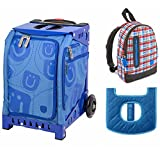 ZUCA Kids' Mini Smile Bag / Blue Frame with Seat + Backpack and Seat Cushion