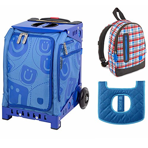 ZUCA Kids' Mini Smile Bag / Blue Frame with Seat + Backpack and Seat Cushion by ZUCA