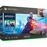 Microsoft Xbox One X 1TB/2TB Gold Rush Special Edition Battlefield V Bonus Bundle: Gold Rush Special Edition Battlefield V, Xbox Wireless Controller, Xbox One X 4K HDR Console - Black