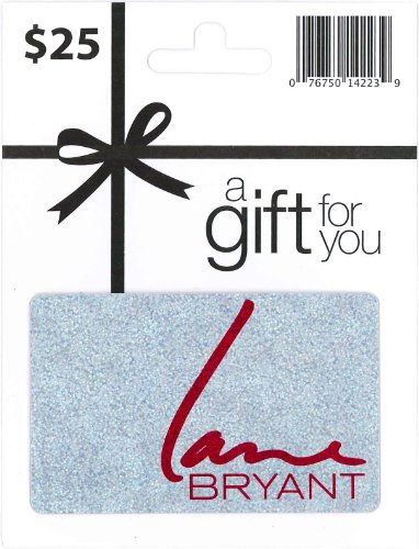 Lane Bryant Holiday Gift Card $25   Plastic Gift Certificate in ...