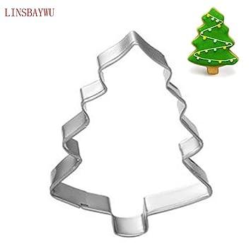 Molde de aluminio con forma de árbol de Navidad, herramienta para moldes de galletas o pasteles, herramienta para moldes de repostería: Amazon.es: Hogar