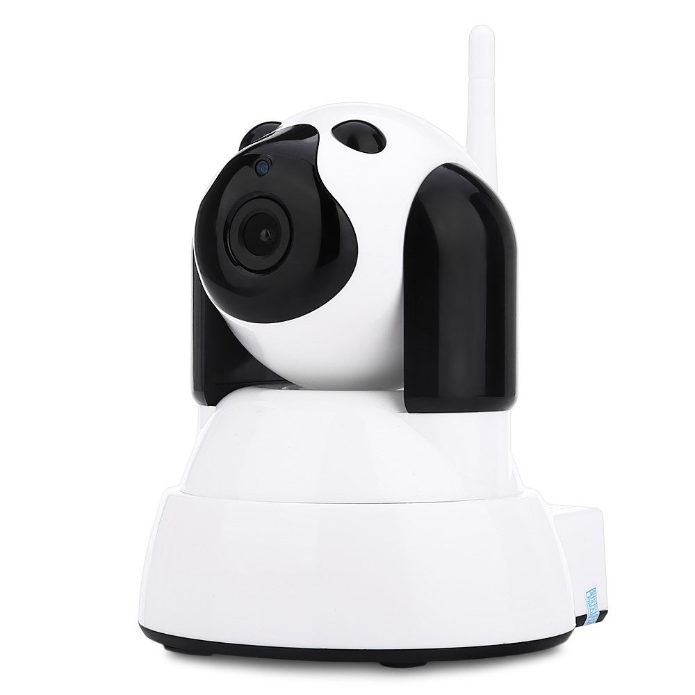HYXT IP Camera 720P WiFi IR CUT Indoor No Monitoring Blind Spots Fluent Clear Auto Alarm High RAM Support Connecting Modes Multiple Clients Baby Monitor Camera A Smart Home Living (White)
