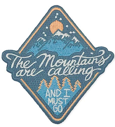 OHoulihans - The Mountains are Calling and I Must Go Iron on Patch - Hiking, Camping, Travel, Adventure Patch
