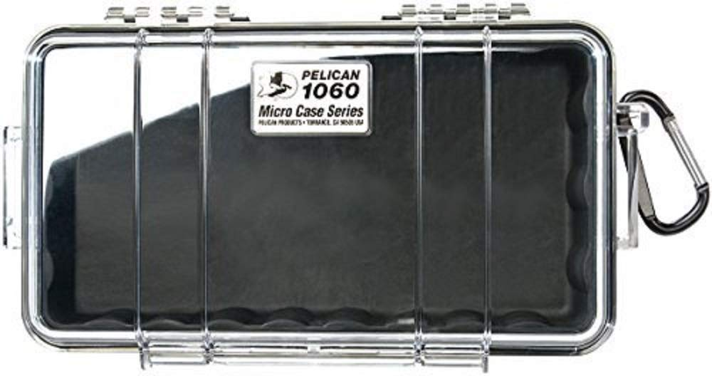 Pelican 1060 MICRO CASE RAVEN, Black / Clear