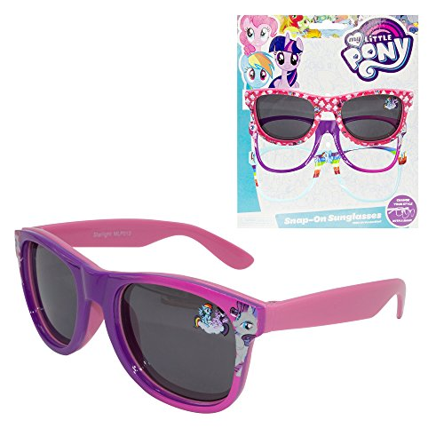 Hasbro My Little Pony Kids Children Girls Sunglasses with 100% UV Protection with Snap-On Frames