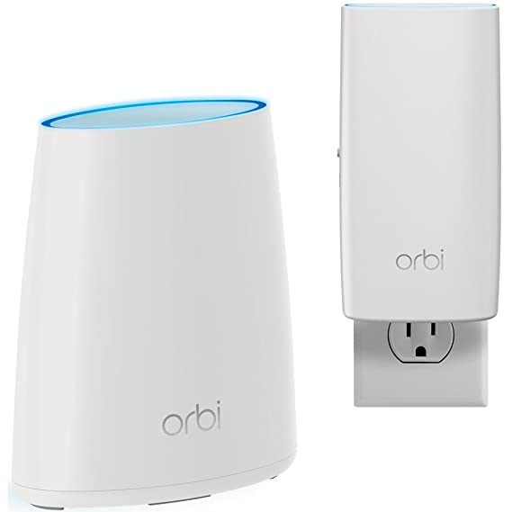 NETGEAR Orbi Home WiFi System: AC2200 Tri-Band Home Network - Router & Wall Plug Satellite. Up to 3 Routers (Computers & Accessories) at amazon