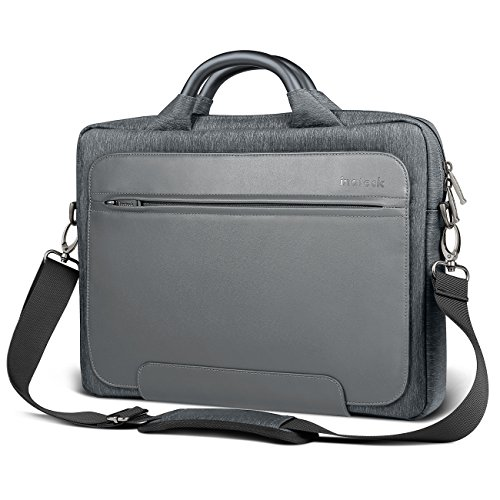 Inateck Man Shoulder Bag, 14-14.1 Inch Laptop Bag for 15'' 2018/2017/2016 MacBook Pro and Up to 14.1 Inch Laptop Ultrabook, PU Leather Water-resistant Briefcase Handbag - Dark Gray by Inateck