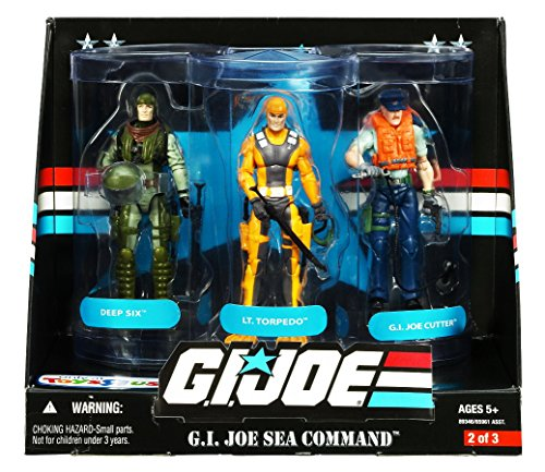 G.I. Joe 25th Anniversary: Sea Command Exclusive Boxed Action Figure 3-Pack: Deep Six, Lt. Torpedo and G.I. Joe Cutter ()